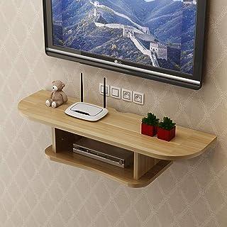 YAYONG Casiers étagères Et Tiroirs Rangement TV Boîte De Rangement pour Routeur Cloison Murale Support De Chambre À Couche...
