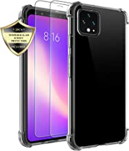 Google Pixel 4 XL Case, Androgate Clear Transparent Slim Soft Rubber TPU Shock-Absorption Cover Skin Bumper Case and 2 PCs Tempered Screen Protectors for Google Pixel 4 XL