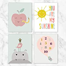 You are My Sunshine Children's Wall Art - Set of 4-8x10 Prints on Linen Paper - Unframed