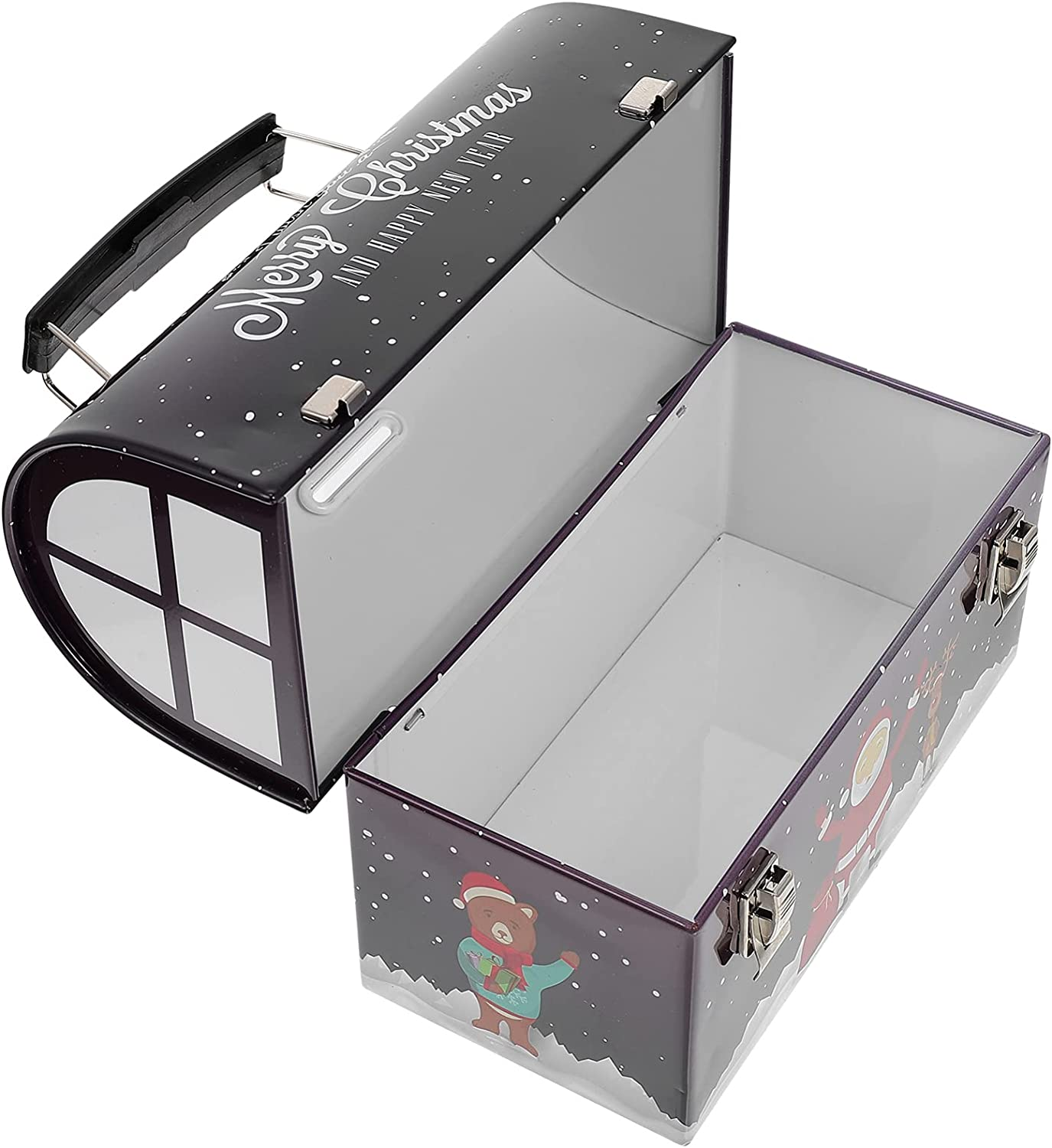 NOLITOY 1PC Multi- Xmas Gift Packing Tinplate Box Storage B Challenge the lowest price of Max 61% OFF Japan