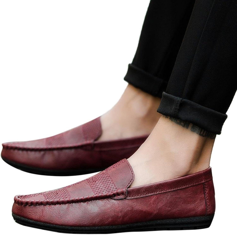 Fheaven Men Casual Loafers Comfortable Breathable Sneakers Flat Slacker shoes
