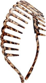 CHIMERA Hair Hoop Leopard Print Cellulose Acetate Teeth Comb Head Hoop Simple Headband for Women
