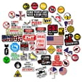 Hard Hat Stickers [Big 50 PCS] - Funny Sticker for Tool Box Helmet Hardhat, Gifts for Adult Essential Wokers Welders Construction Union Military Oilfield Electrician, American Patriotic Vinyl Decals
