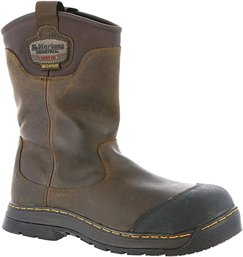 Dr. Martens Men& 039;s Rush Eh St Rigger Leather, Rubber Work Stiefel