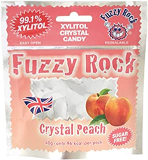 Fuzzy Rock Xylitol Cristal Candy Peach 40g
