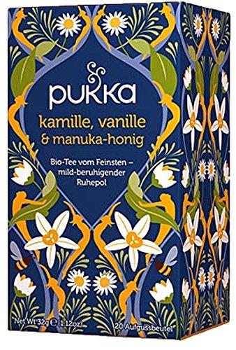 Kamille, Vanille & Manuka Honig PUKKA Tee BIO 4 Packungen à 20 Teebeutel