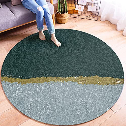 Oukeep Non-Slip Wear-Resistant Round Carpet Household Children Crawling Mat Living Room Study Bedroom Coffee Table Sand Blanket Washable Material