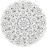 Juvale - Centrini rotondi per medaglione, confezione da 300 pezzi, 25,4 cm, colore: Bianco