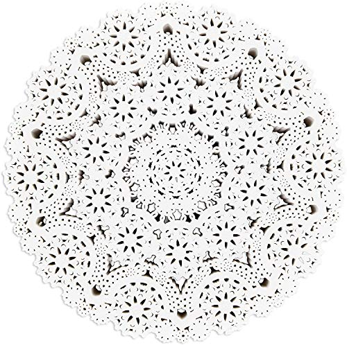 Paper Lace Doilies - Round Medallions (10 Inches, White, 300 Pack)