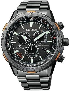 ساعة تعمل بالطاقة الشمسية بشاشة كرونوغراف وسوار من الستانلس ستيل للرجال من سيتيزن - CB5007-51H