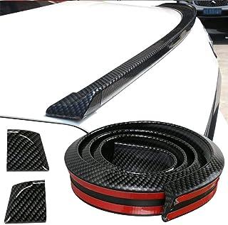 S7 Gloss Black 7 Fins Shark Style Rear Bumper Lip Spoiler 85.5cm For S5 S6 S8 Models