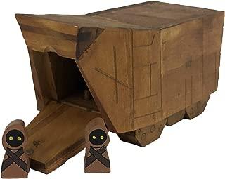 Galaxy's Edge Star Wars Sandcrawler and Jawa Wooden Toy Playset