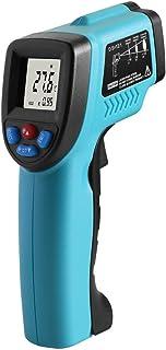 赤外線放射温度計,範囲 -50~550°C 非接触温度計 作業用/家庭生活用 デジタル温度測定器 放射率変更可能 高温と低温警報