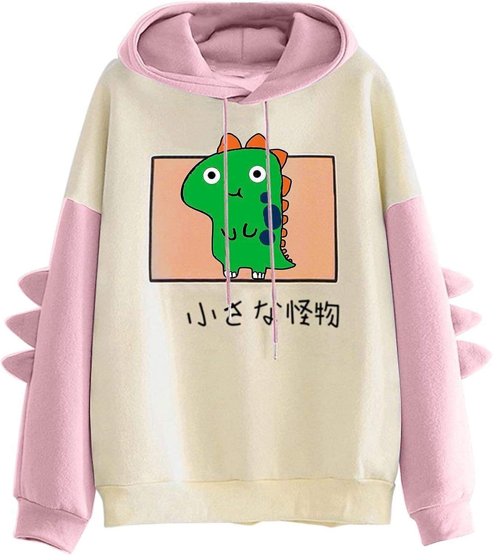 Hotkey Ranking TOP16 Y2k Sweatshirt online shop for Women Dinosaur Print Women's Fashion