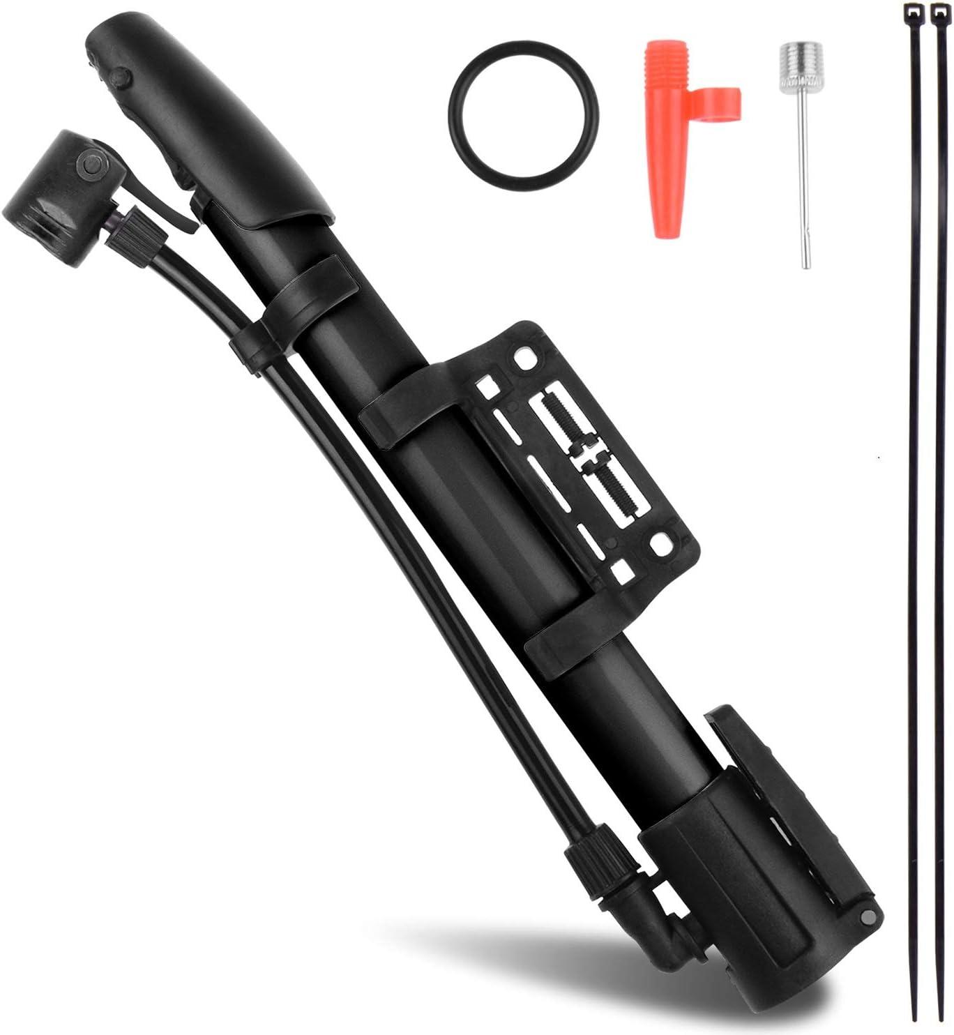Details about  /Mini Bicycle Pump Bike Air Stick Presta Schrader Aluminum Alloy Tire Inflator