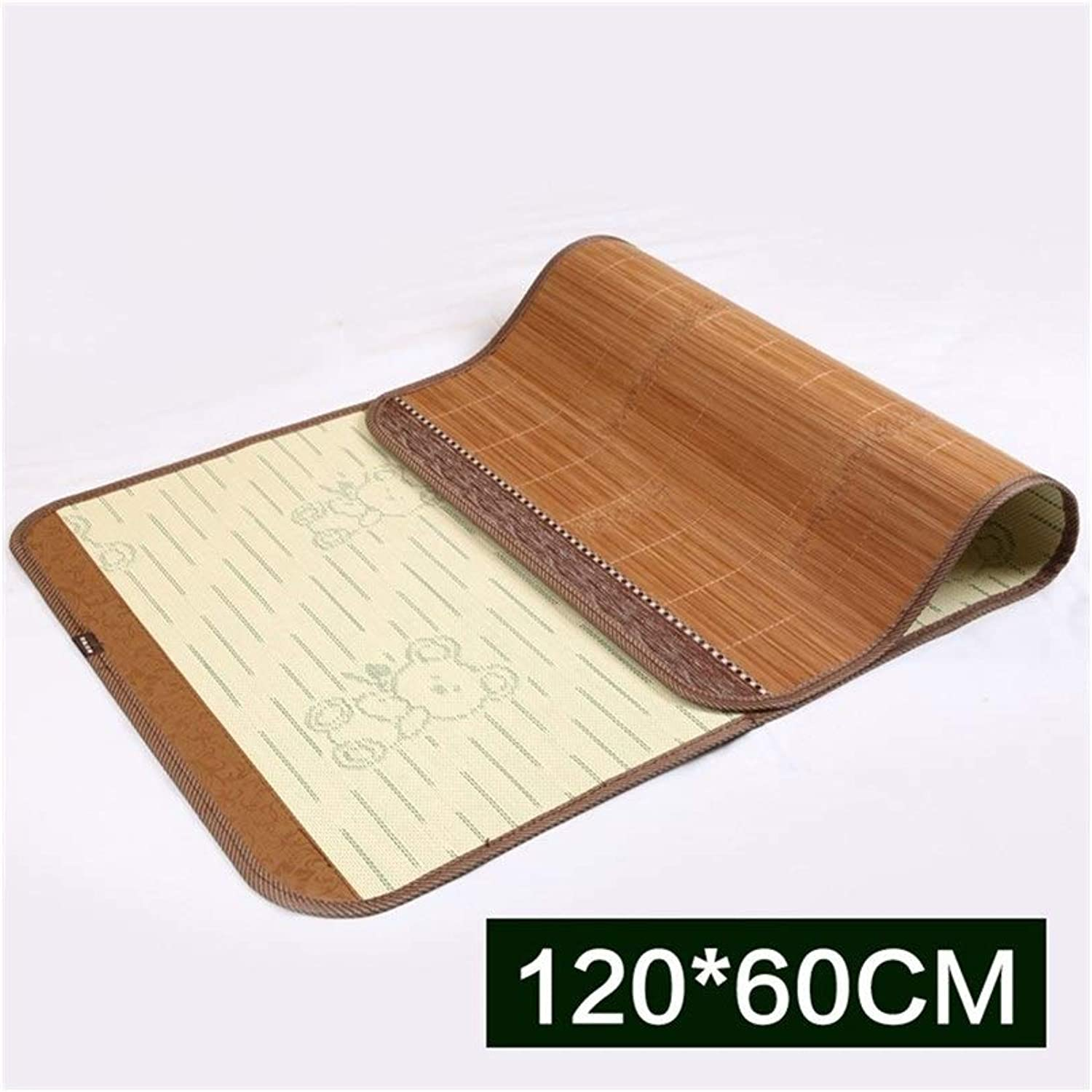 Summer Sleep mat Cold Cloth Double-Sided Smooth Natural Breathable Cute Bamboo (Size   120X60cm)