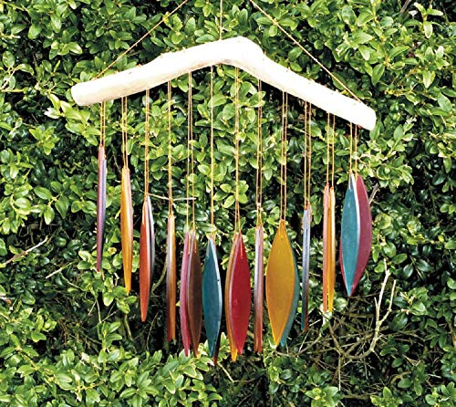 MyFamilyHouse Windspiel/Mobile aus Glas, Fair Trade, handgefertigt, Mehrfarbig