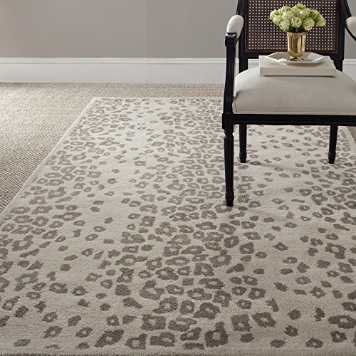 Safavieh Martha Stewart Collection MSR3621D Handmade Kalahari Wool & Viscose Area Rug, 5' x 8', Sharkey Gray