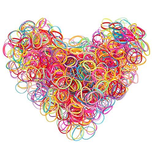 Mehrfarbige Haarhalter Haargummi Elastische Gummibänder für Baby Mädchen, 2 000 Stück