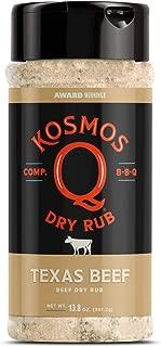Kosmos Q Texas Beef BBQ Rub | Savory Garlic & Lemon Blend | Great on Brisket, Steak, Ribs, Chicken, Pork & Burgers | Best Barbecue Rub | Meat Seasoning & Spice Dry Rub | 13.8 oz