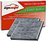 2 Pack - EPAuto CP285 (CF10285) Replacement for Toyota/Lexus/Scion/Subaru Premium Cabin Air Filter includes Activated Carbon