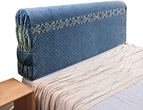Bed Head Cover Headboard Slipcover for Bedroom Pure Color Comfortable Back Cover Protector Elegant Cover (Color : Blue, Si...