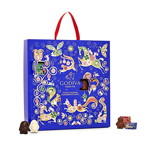 2018 Advent Calendar Chocolate by Godiva Chocolatier, 14.4 ounce
