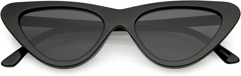 SunglassLA  Small Retro Vintage Cat Eye Sunglasses For Women Flat Lens 51mm