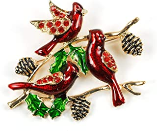 Christmas Brooches And Pins.Brooches Pins Rockrok Christmas Brooch Pins Bell Wedding