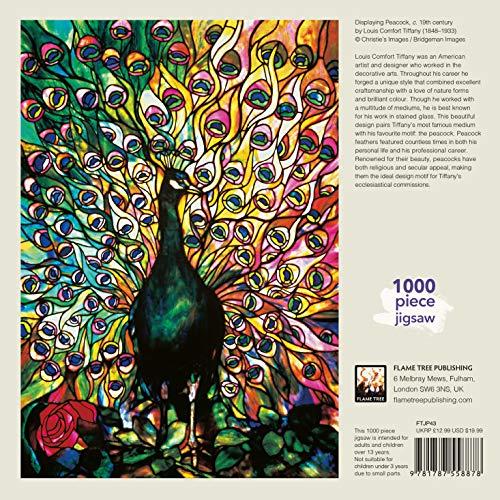 Adult Jigsaw Louis Comfort Tiffany: Displaying Peacock: 1000 piece jigsaw (1000-piece jigsaws) (1000-piece Jigsaw Puzzles)