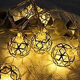 OUYAWEI Iron Art Geometric Hollow Ball LED String Light Decoration for Christmas Wedding