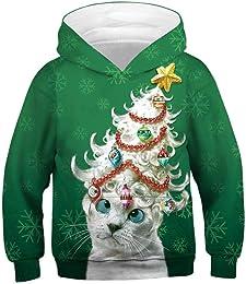 BaZhaHei Sweat-Shirt Fille Garçon pour Noël Enfant