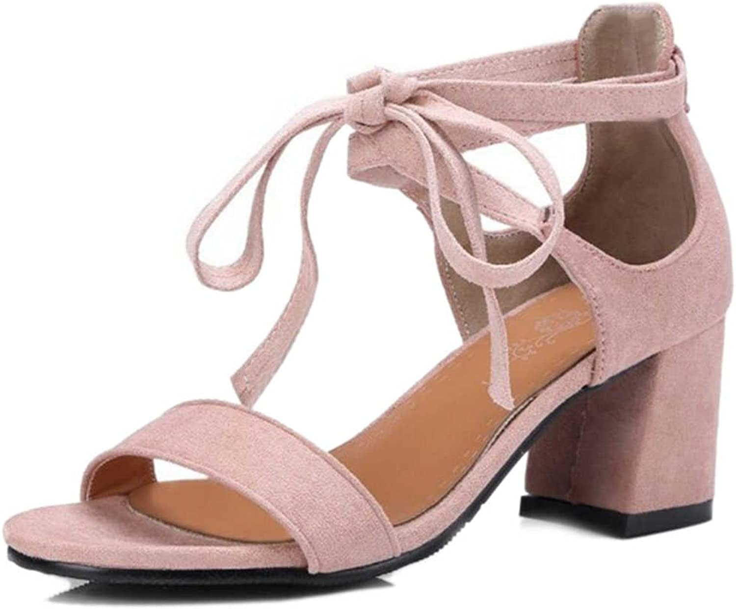 CuteFlats Sandals with Open Toe and Chunky Heel Cross Strap Sandals for All Women