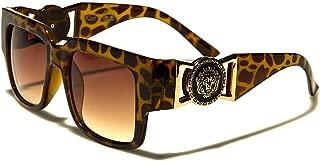 Kleo Horn Rimmed Gold Buckle Hip Hop Rapper DJ Celebrity Sunglasses