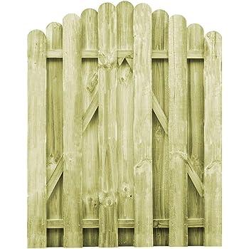 vidaXL Puerta Arqueada de Jardín Madera de Pino FSC 100x125 cm Cancela Patio: Amazon.es: Bricolaje y herramientas