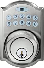 Defiant Electronic Deadbolt Single Cylinder Keypad Door Locks | Spin To Lock Feature | Smart Home Keyless Entry Security | Satin Nickel | Castle Style