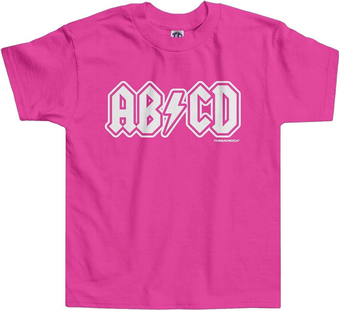 Threadrock cheap Little Superior Girls' Toddler T-Shirt ABCD