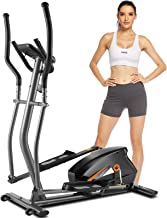 FUNMILY Elliptical Machines for Home Use, Cardio Cross Trainer Equipment with 10 Level Magnetic Resistance, LCD Monitor, H...