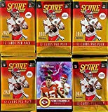 NEW 2021 Panini SCORE Football Cards - 5 FACTORY Sealed Packs - 12 Cards Per Pack / 60 Cards - Look for Trevor Lawrence, Zach Wilson, Justin Fields, Mac Jone... rookie card picture