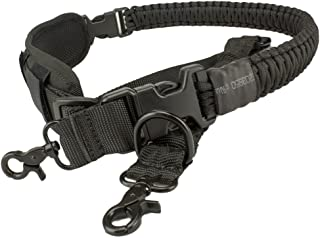 550 Paracord Gun Sling Rifle Sling 2 Point Sling Rifle Strap with Shoulder Pad Separable Paracord Strap Metal Clips Adjustable Length