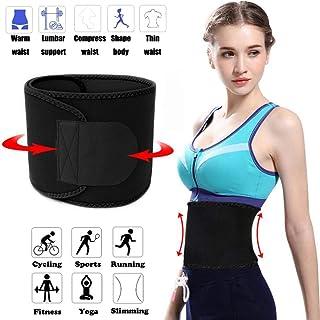 FeiLuo Faja Reductora Adelgazante, Cinturón de Fitness Ajustable para Mujer & Hombre para Body Shaped, Quema de Grasas, Efecto Sauna, Soporte para la Músculos Abdominal y Espalda Baja