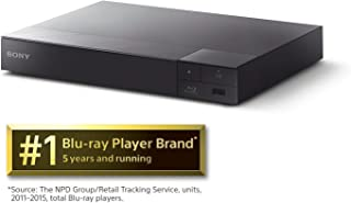 Sony S6700 4K-Upscaling Blu-ray DVD Player with Super Wi-Fi + Remote Control, Bundled with Tmvel High-Speed HDMI Cable with Ethernet