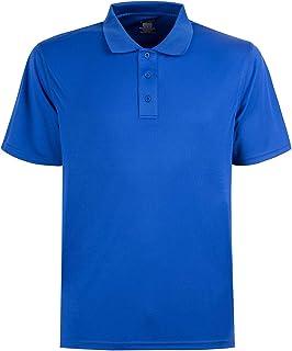 Corna Men's Moisture Wicking Short Sleeve Polo Regular Fit Polo Shirt