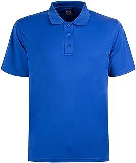 Men's Moisture Wicking Short Sleeve Polo Regular Fit Polo Shirt