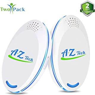 A-Z Tech Ultrasonic Pest Repeller – High-End Plug-In Mosquito Repellent, Rodent, Bug, Mice, Insect, Rat, Spider & Roach Pest Defender - Indoor Pest Control Ultrasonic & Pest Reject Ultrasonic Repeller