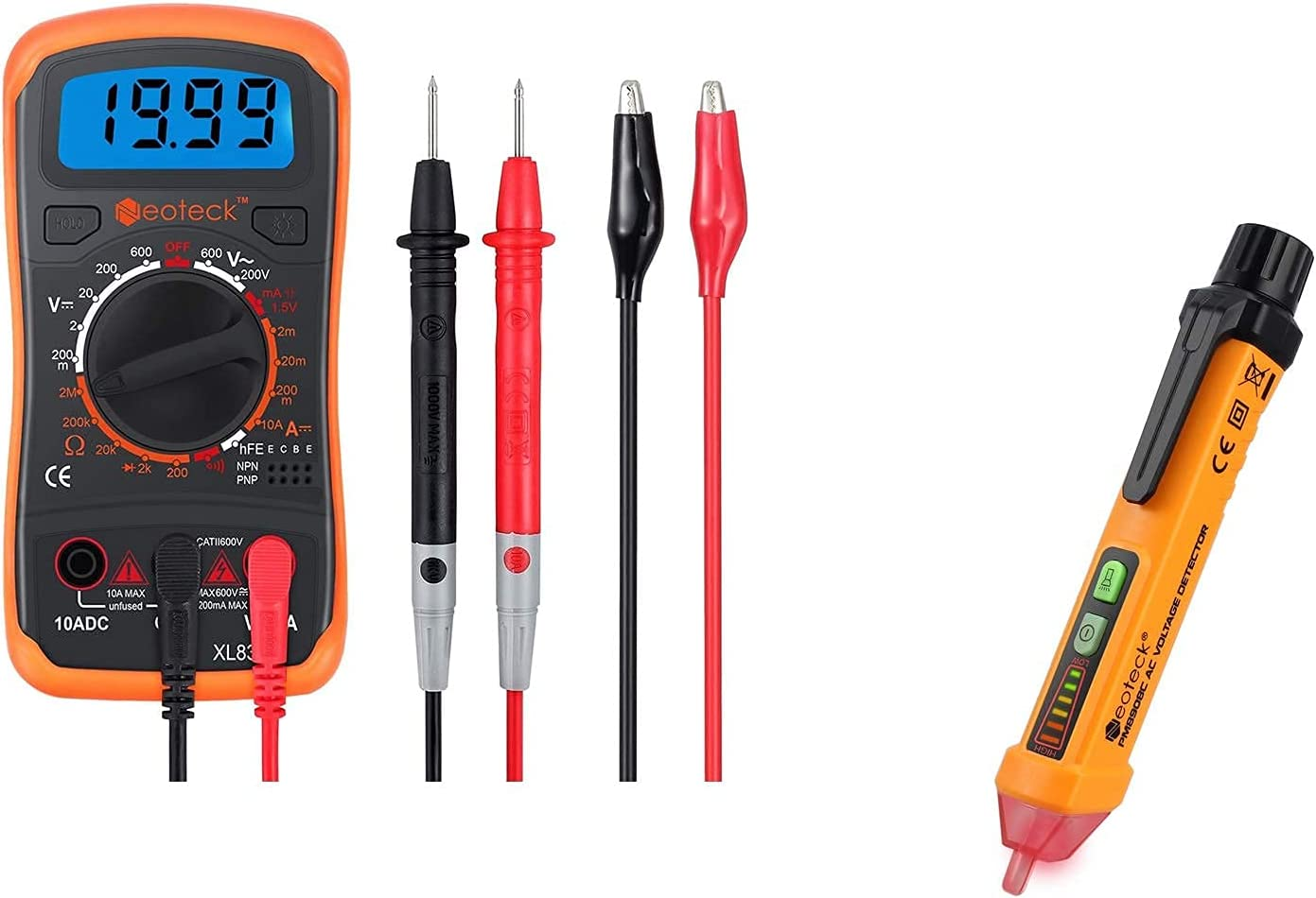 Neoteck Selling and selling Digital Multimeter + Max 81% OFF Non-Contact AC Tester 12-10 Voltage