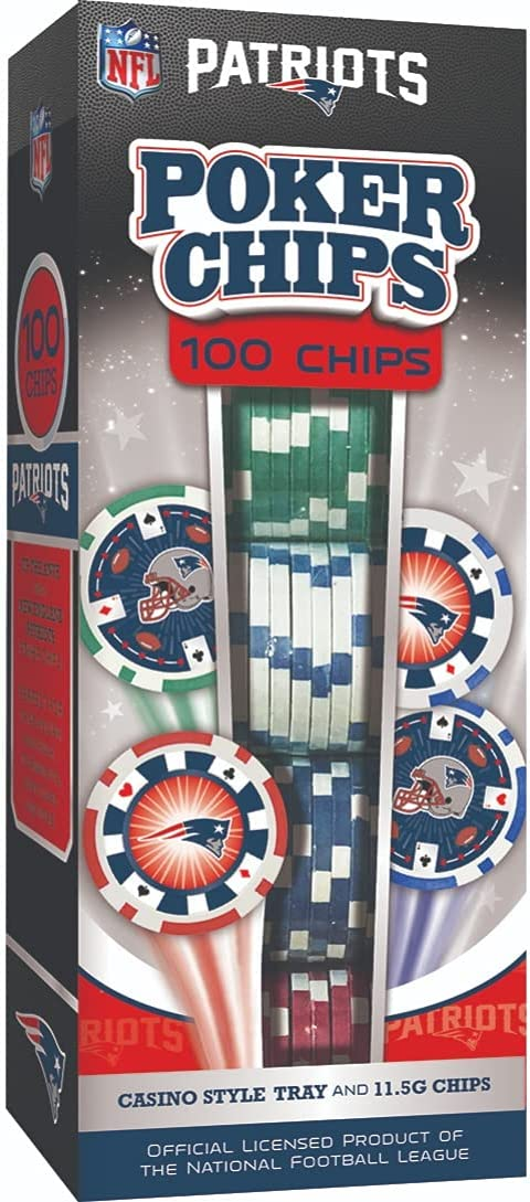 MasterPieces Opening large release sale NFL New England Patriots 100 Chips Rapid rise Piece Poker