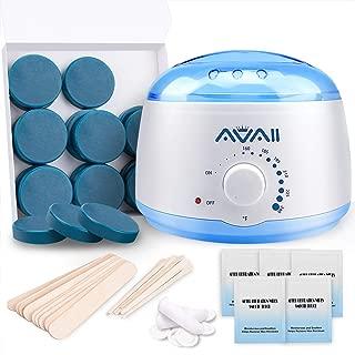 Wax Warmer, AVAII Hair Removal Eyebrows Waxing Kit Target For Facial Lip Chin with 18pcs Hard Wax Men Women