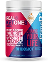 Real Ketones Prime D+ Keto BHB (Beta-Hydroxybuterate) and MCT Exogenous Ketones Powder Low Carb Ketogenic Drink to Boost Energy and Mental Clarity (Orange Blast) (28 Serving)