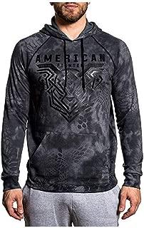 Mens (Heather Grey) Brimley LS Raglan Hooded Shirt